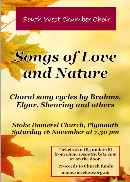 South West Chamber Choir Devon Plymouth East Cornwall